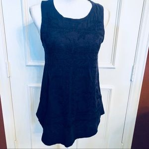 Lucky Brand Navy Blue Embroidered Tank Top Size M